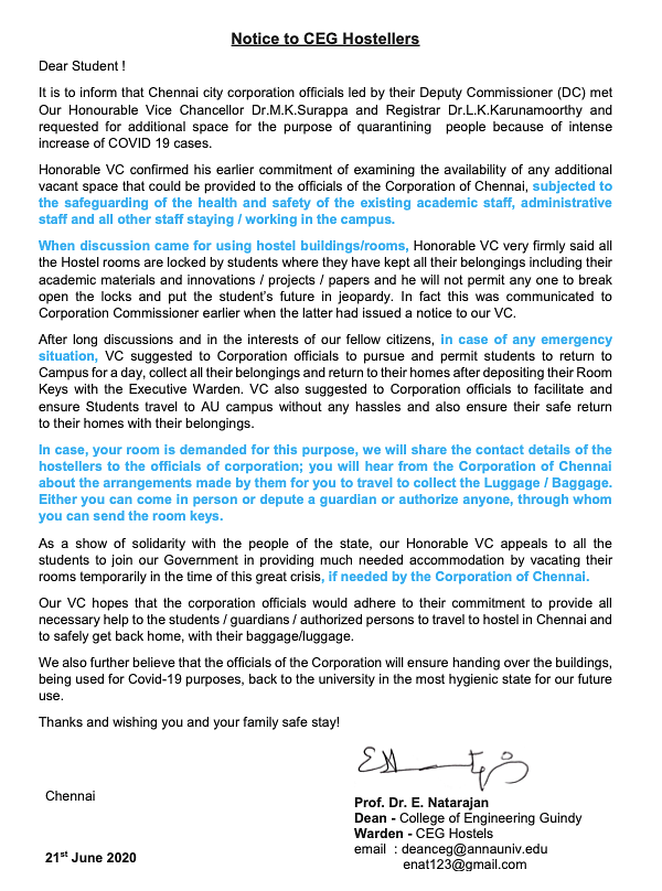 anna university notice