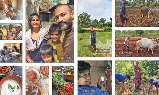 மனைவி விஷாலா மற்றும் பிள்ளைகளுடன் நடிகர் கிஷோர்