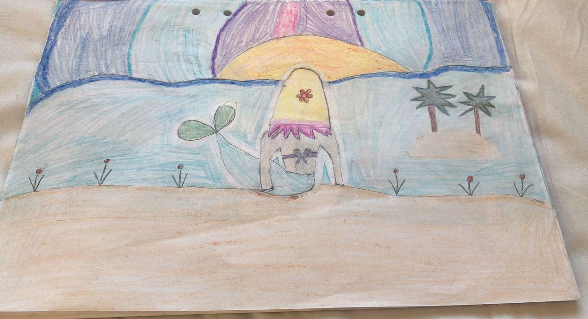 Mermaid enjoying the rainbow