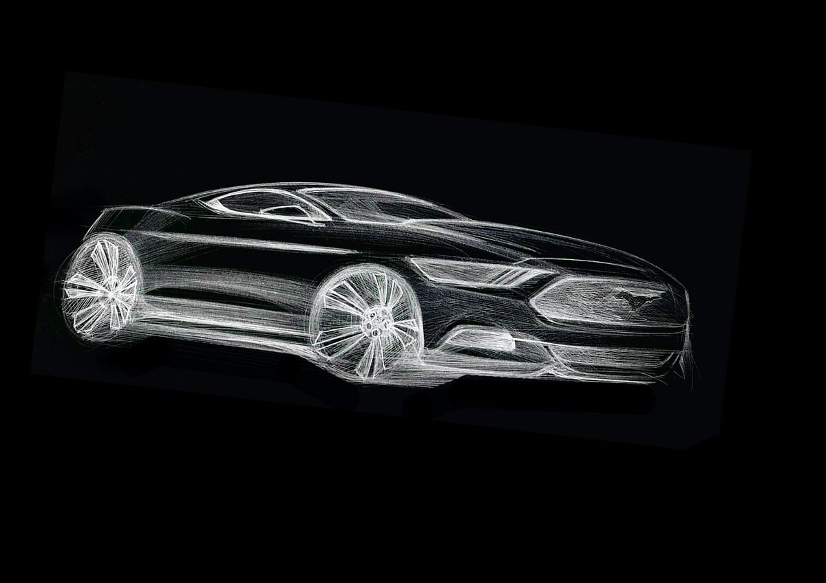 Ford Mustang Sketch