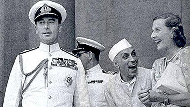 Jawaharlal Nehru,  Edwina and  Louis Mountbatten