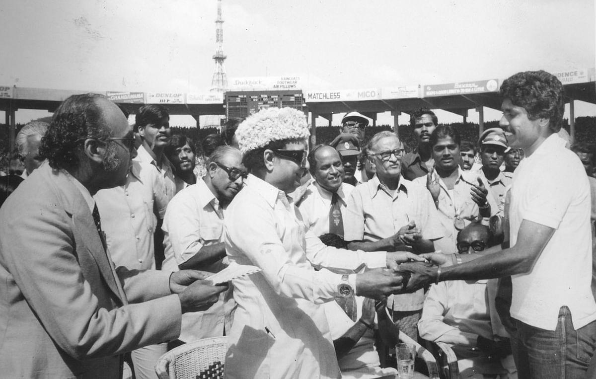 Kapil Dev and MGR