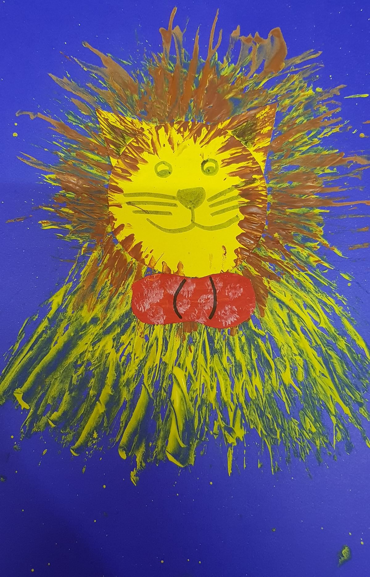 Fork painting Lion