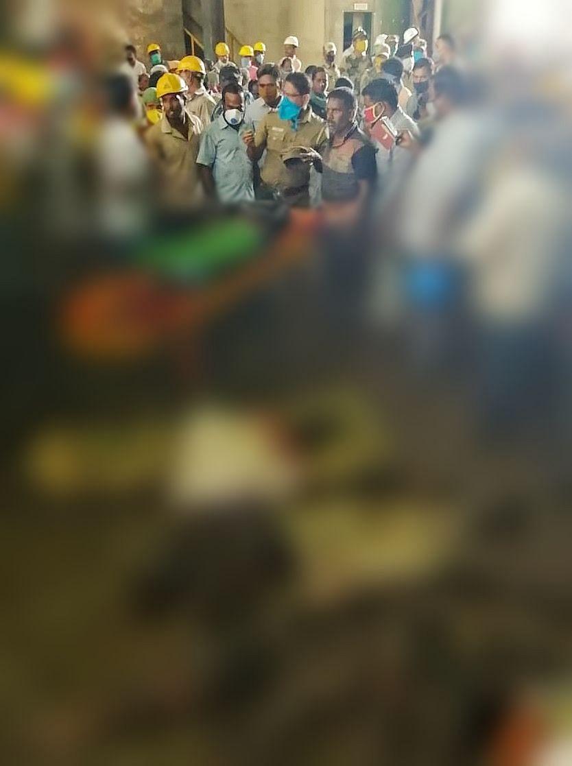 தீயில் கருகி உயிரிழந்த தொழிலாளர்கள்