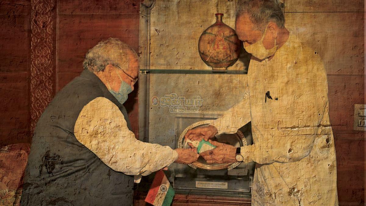கவர்னருடன் அசோக் கெலாட்