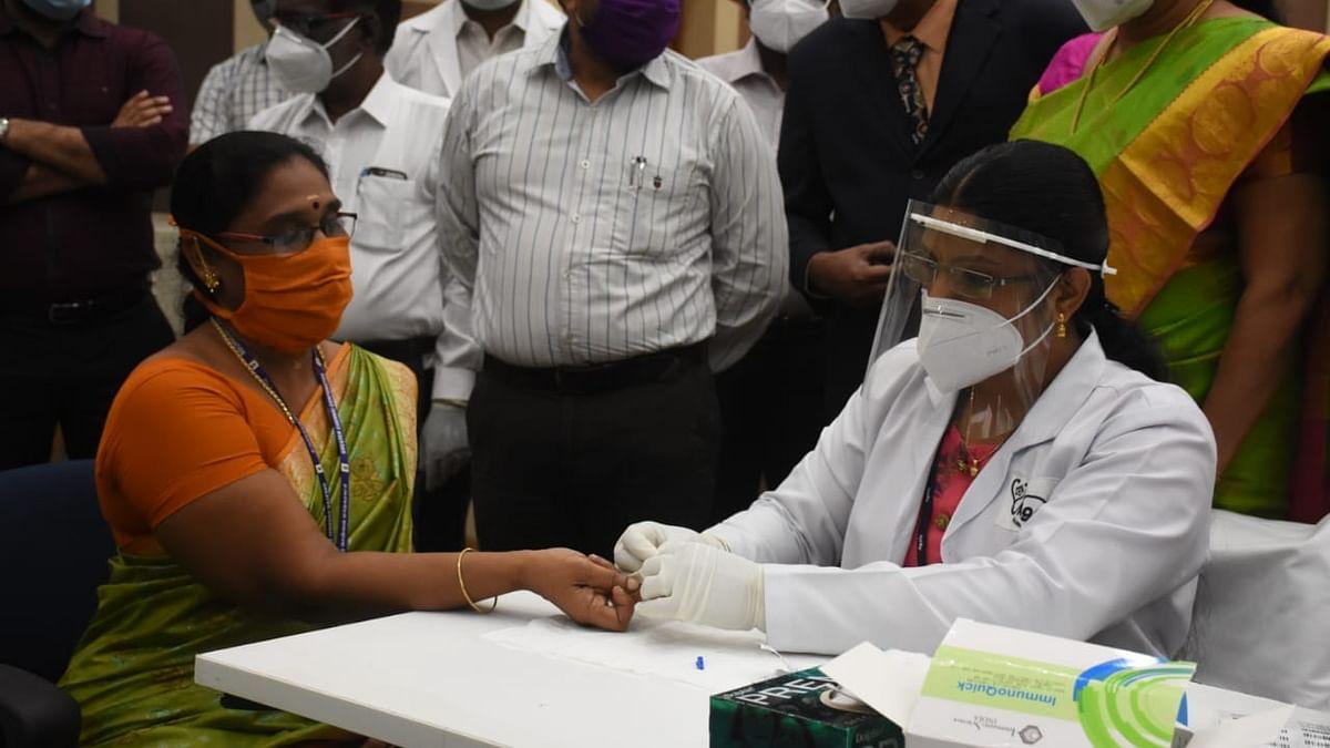 சென்னை மாநகராட்சி பணியாளர்களுக்கு ரேபிட் டெஸ்ட்