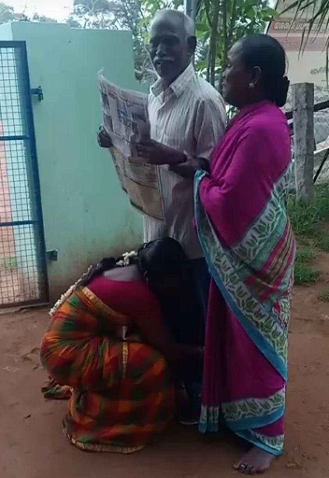 பேஸ்புக் பதிவால்சேர்ந்த குடும்பம்