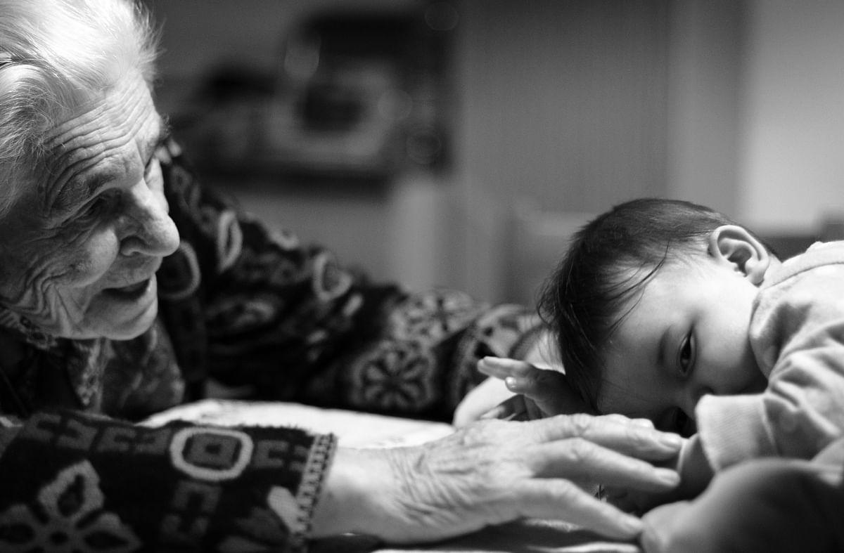 Grandma with Kid