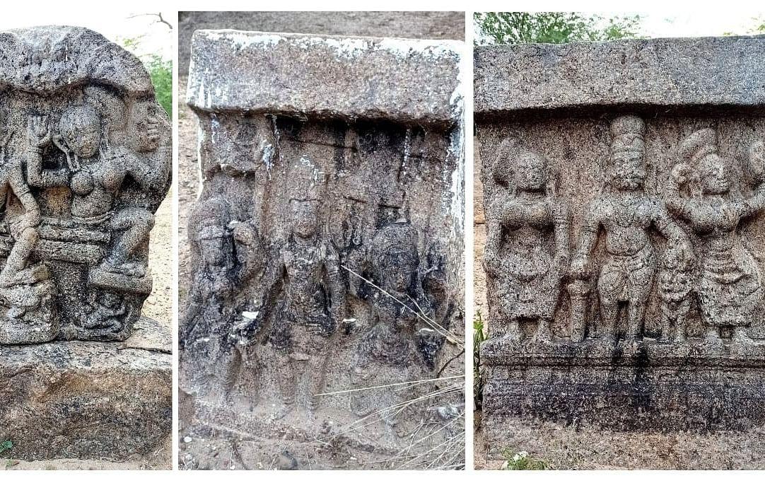 மதுரை: கண்மாயில் கண்டெடுக்கப்பட்ட 400 ஆண்டுகள் பழைமையான சதி கற்கள்!