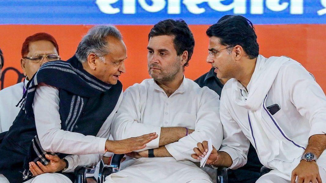 ராஜஸ்தான் முதல்வர் அசோக் கெலாட் மற்றும் சச்சின் பைலட்