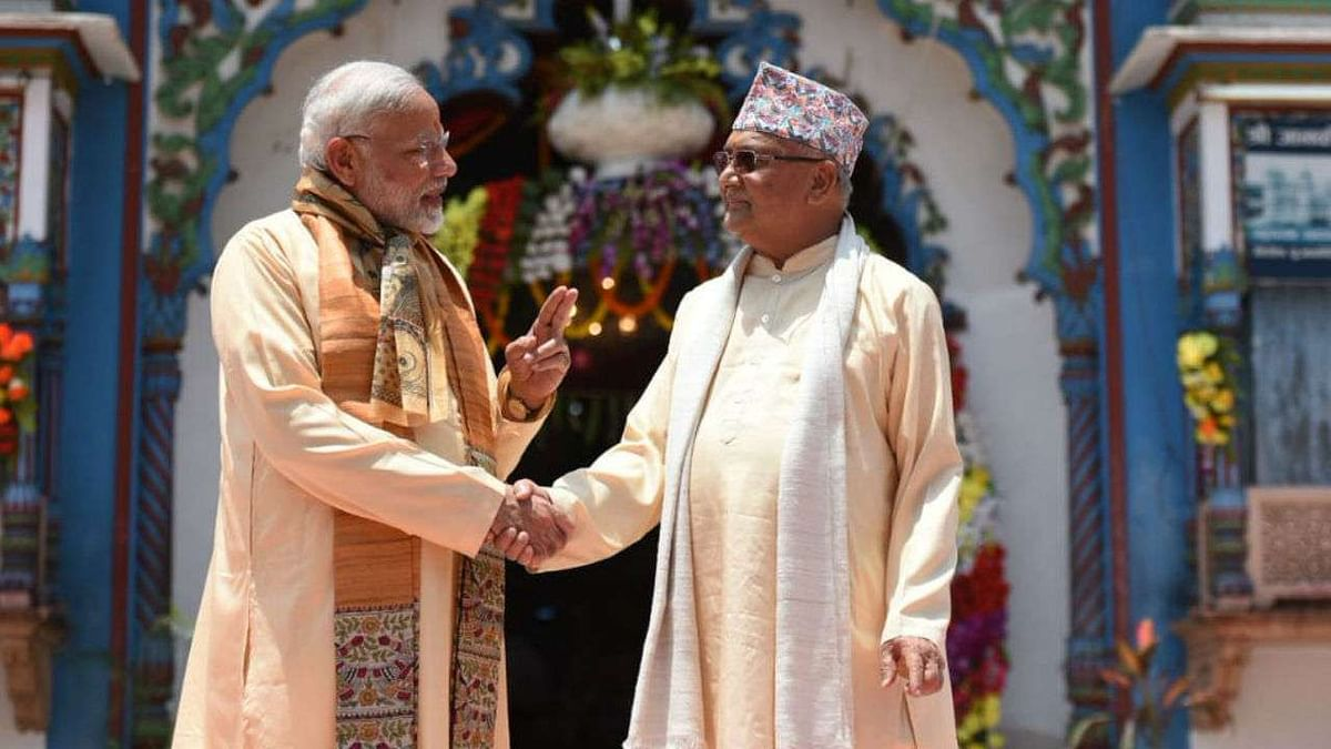 ஜனக்பூரில் பிரதமர் மோடியுடன் கே.பி.ஷர்மா