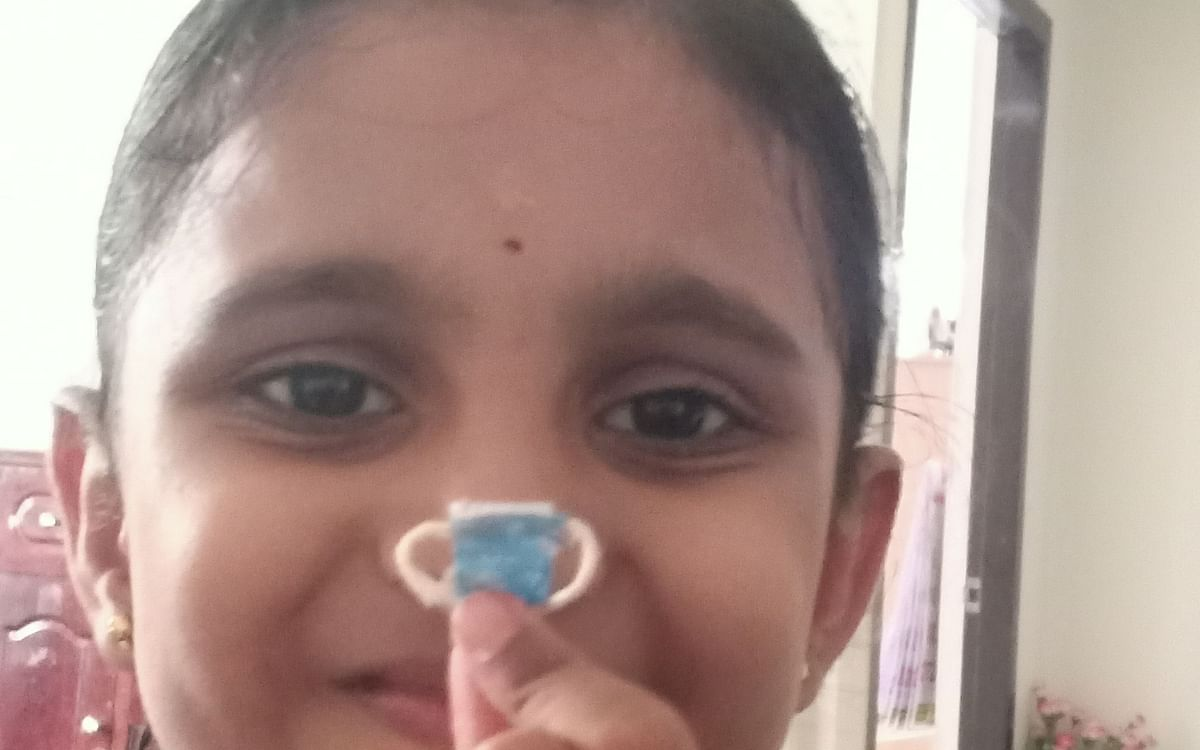 பார்பி பொம்மைக்காக குட்டி மாஸ்க்..! #KidsTalentCorner