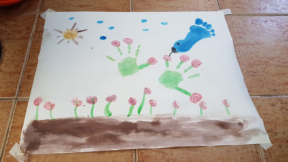 Bird and Flower Handprint craft