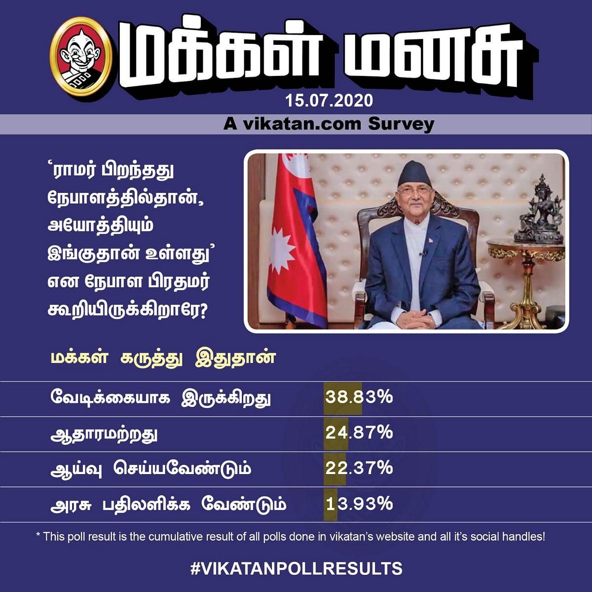 Nepal PM   Vikatan Poll