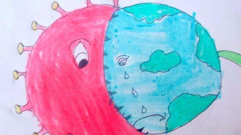 Coronavirus drawing
