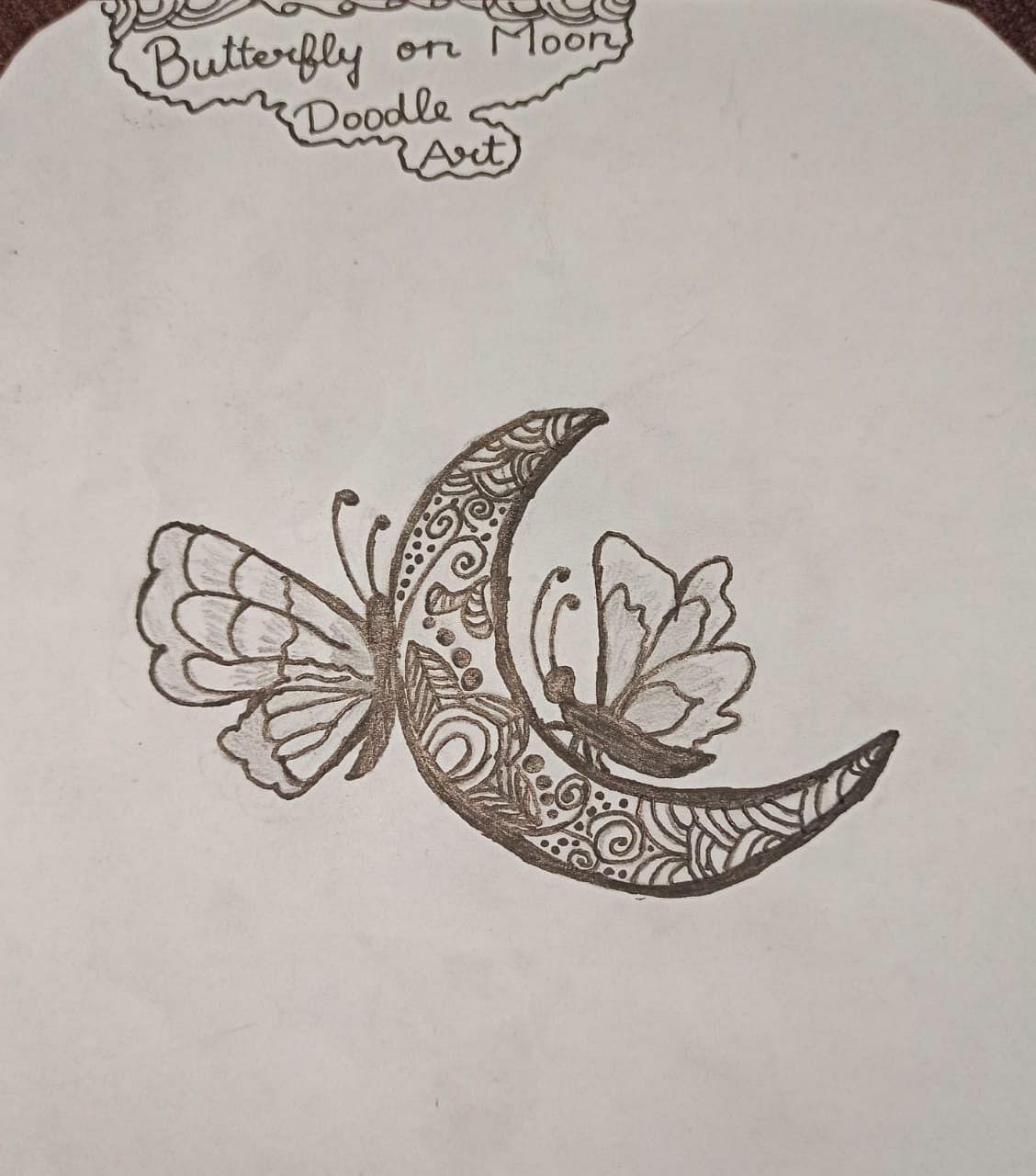 Butterfly on moon