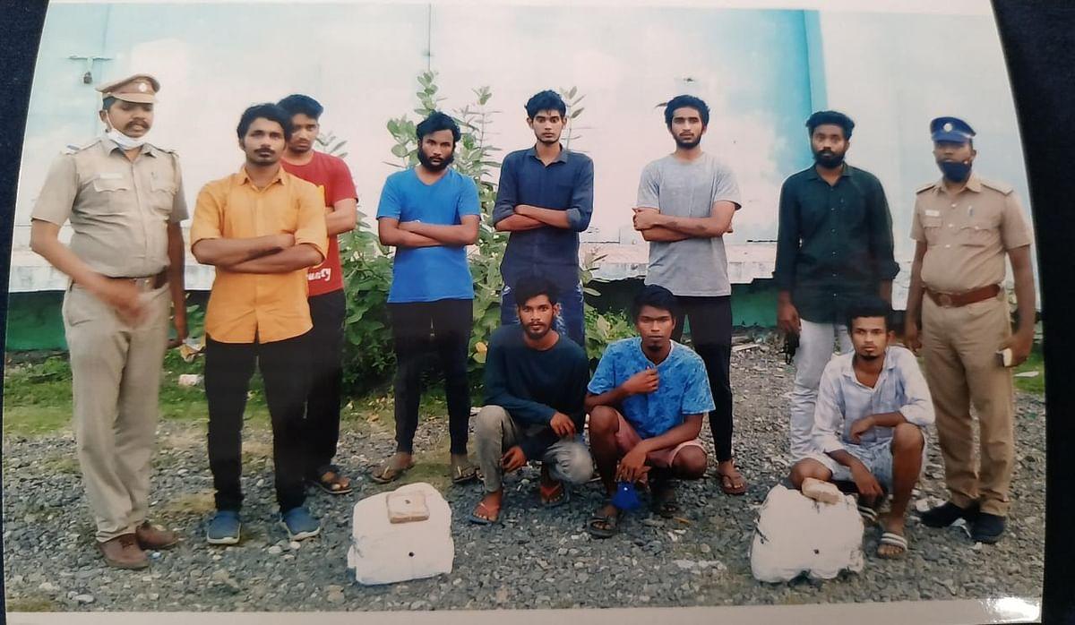 கஞ்சா வழக்கில் கைதானவர்கள்