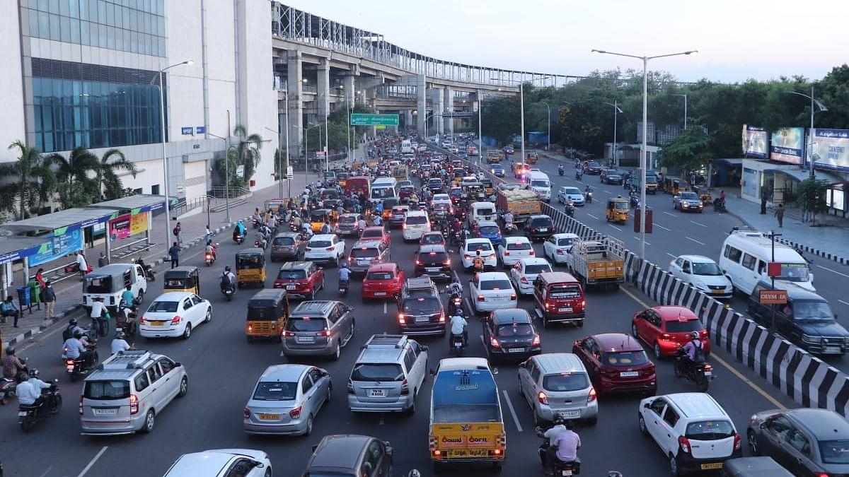ஊரடங்கு தளர்வு - கத்திப்பாரா, சென்னை