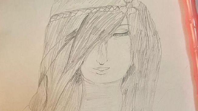 Pencil Sketch - A Smart Girl!