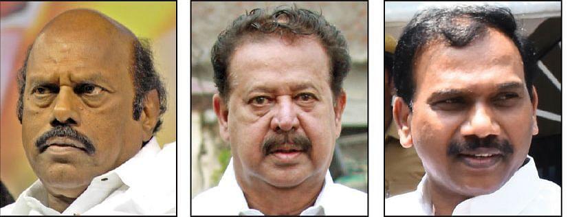 எ.வ.வேலு, பொன்முடி, ஆ.ராசா,