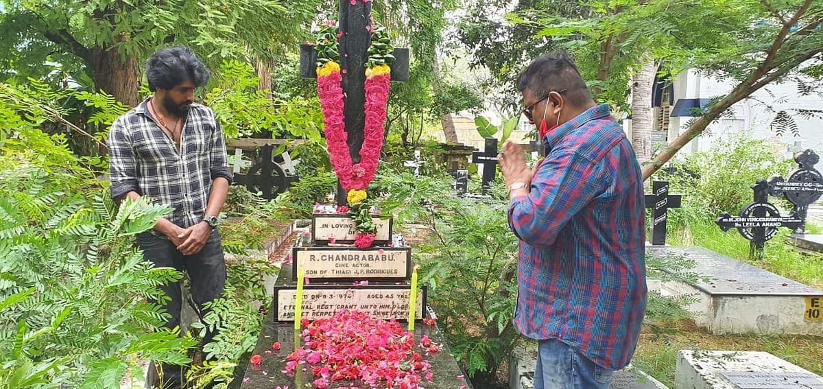 சந்திரபாபு கல்லறையில் மிஷ்கின்