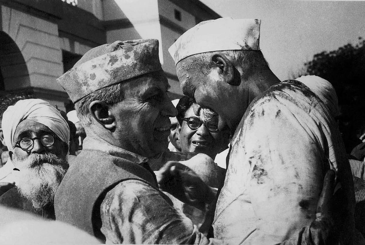 Jawaharlal Nehru and Rajendra prasad