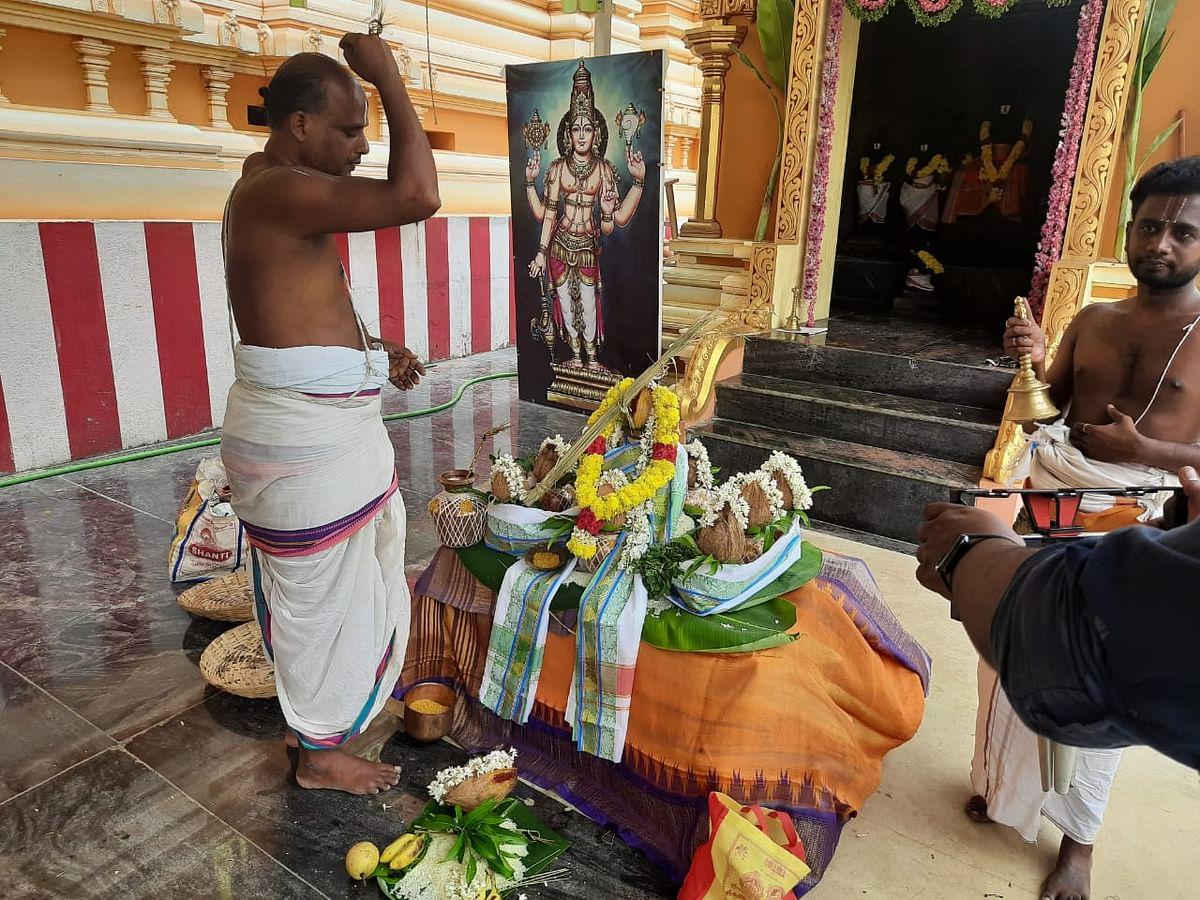 திருவடிசூலத்தில் தொடங்கியது சக்தி விகடன் நடத்தும் தன்வந்த்ரி மகாஹோமம்!