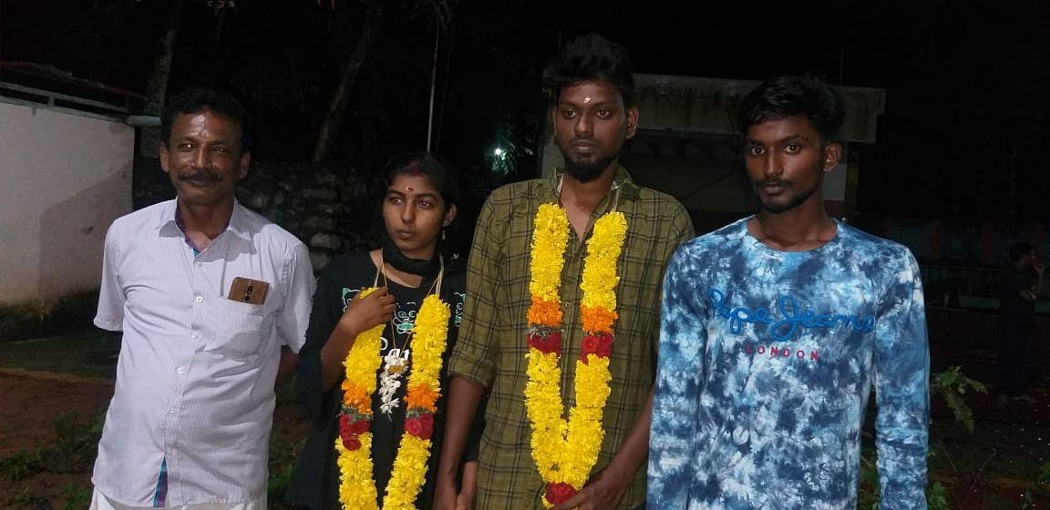 திருமணம் செய்துகொண்ட பபிஷா, அஜின் பிரின்ஸ்