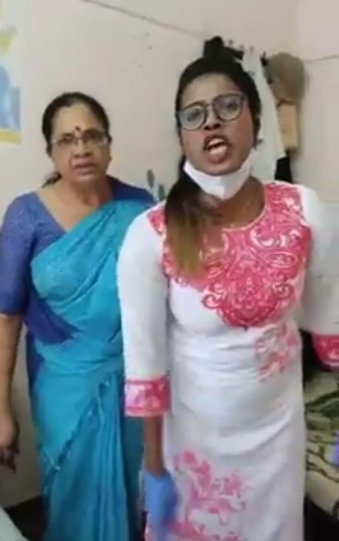 தாக்கிவிட்டு ஆவேசமாகப் பேசும் பெண்கள்