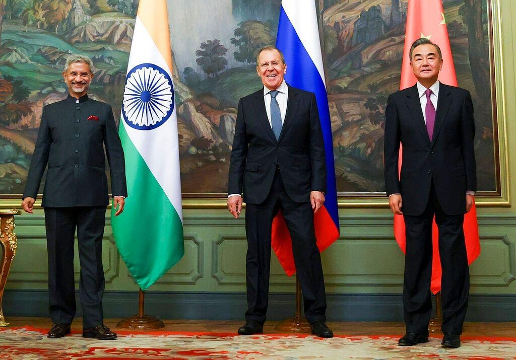 இந்திய, ரஷ்ய, சீன வெளியுறவுத்துறை அமைச்சர்கள்