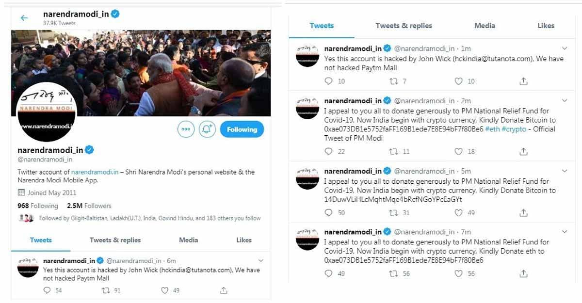 Modi Twitter Hacked