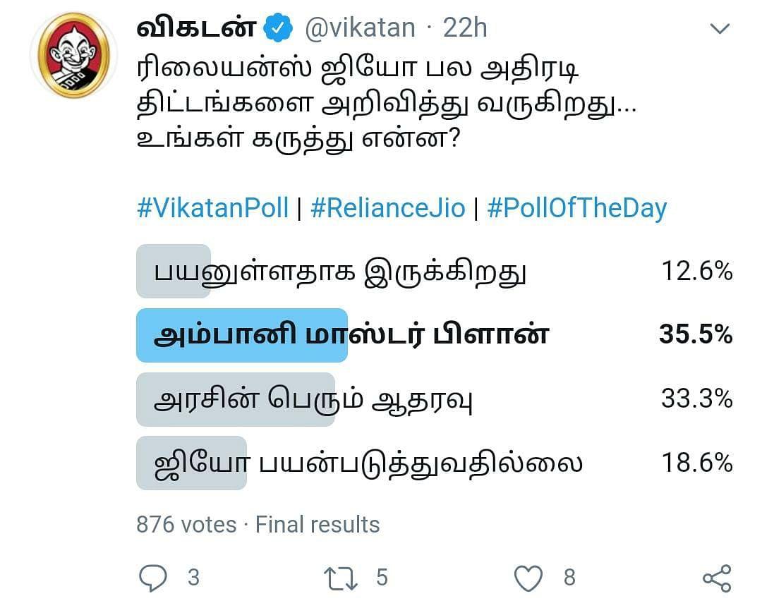 Jio   Vikatan Poll