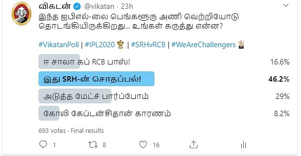 RCB   Vikatan Poll