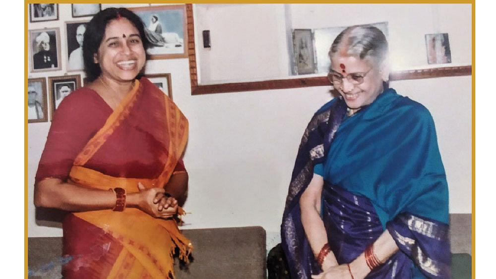 எம்.எஸ்.சுப்புலட்சுமி அம்மாவுடன் கௌரி ராம்நாராயணன்