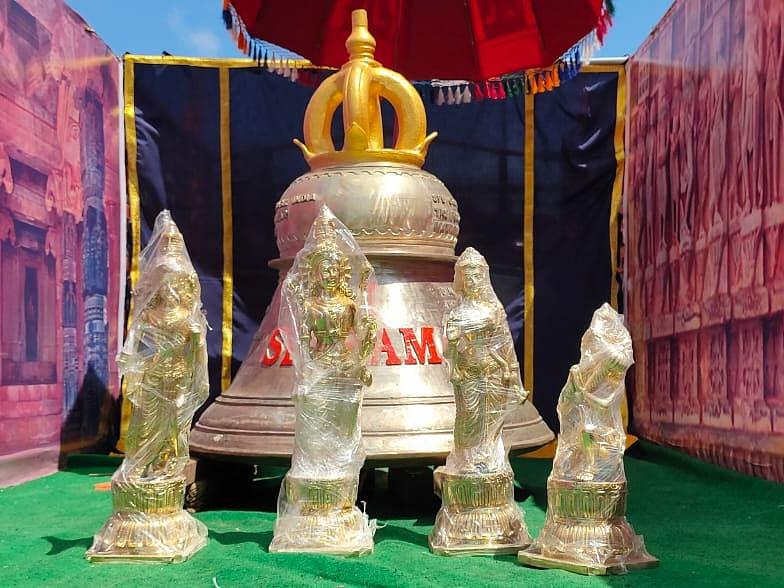 613 கிலோ எடை, 4,552 கி.மீ தூரப் பயணம்... ராமேஸ்வரத்திலிருந்து அயோத்தி செல்லும் வெண்கல மணி!