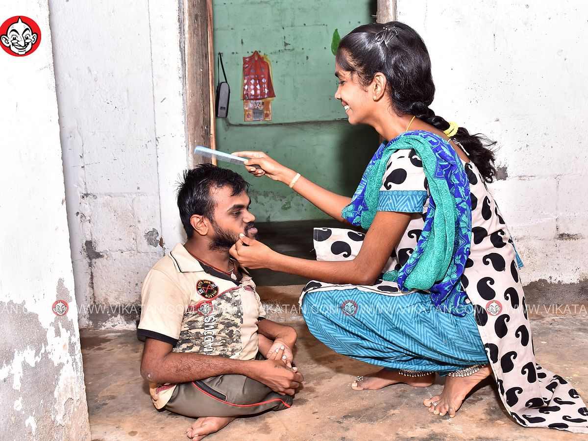 ``என் கணவர் நிச்சயம் ஜெயிப்பார்!''- காரைக்குடி மணிக்கு உதவும் மனங்கள்!