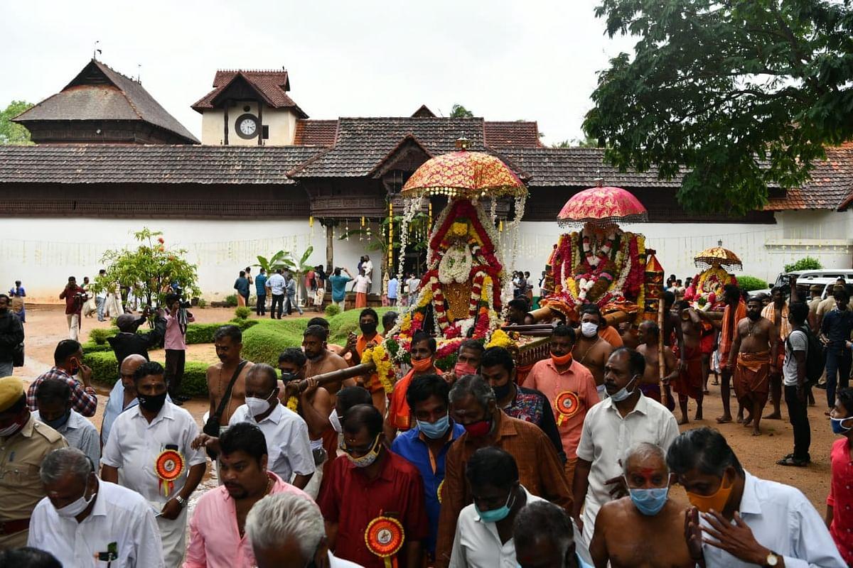 பத்மநாபபுரம் அரண்மனையில் இருந்து சுவாமி புறப்பாடு