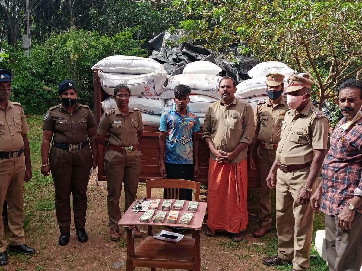 கேரளாவிற்கு கடத்த முயன்ற ரேஷன் அரிசி பறிமுதல்