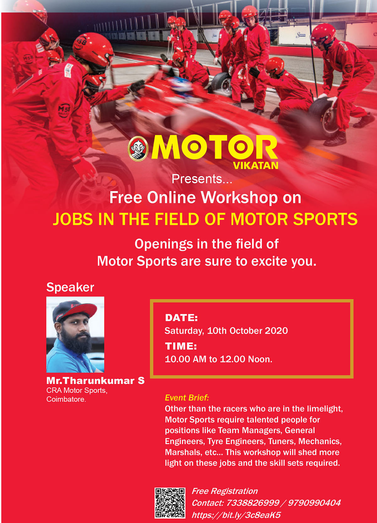 MOTOR VIKATAN : Free Online Workshop on Jobs in the field of Motor Sports