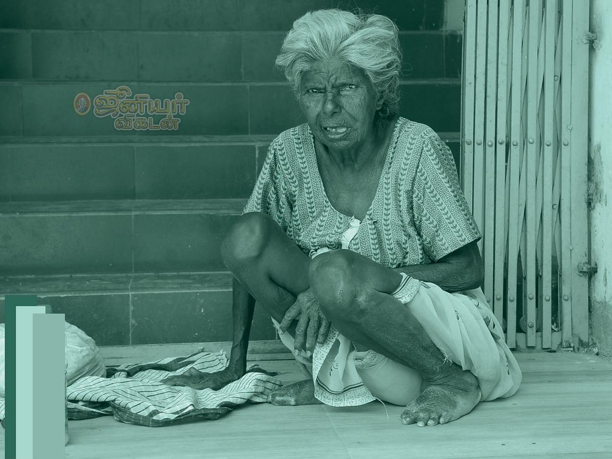 பேரனின் 'குடி' க்காக ஏந்திய பிச்சைப் பாத்திரம்...
