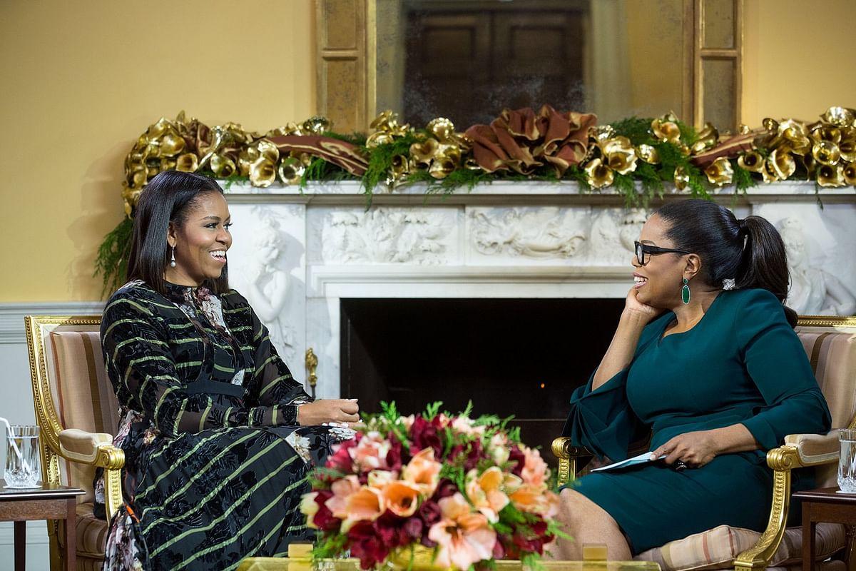 Oprah Winfrey with Michelle Obama