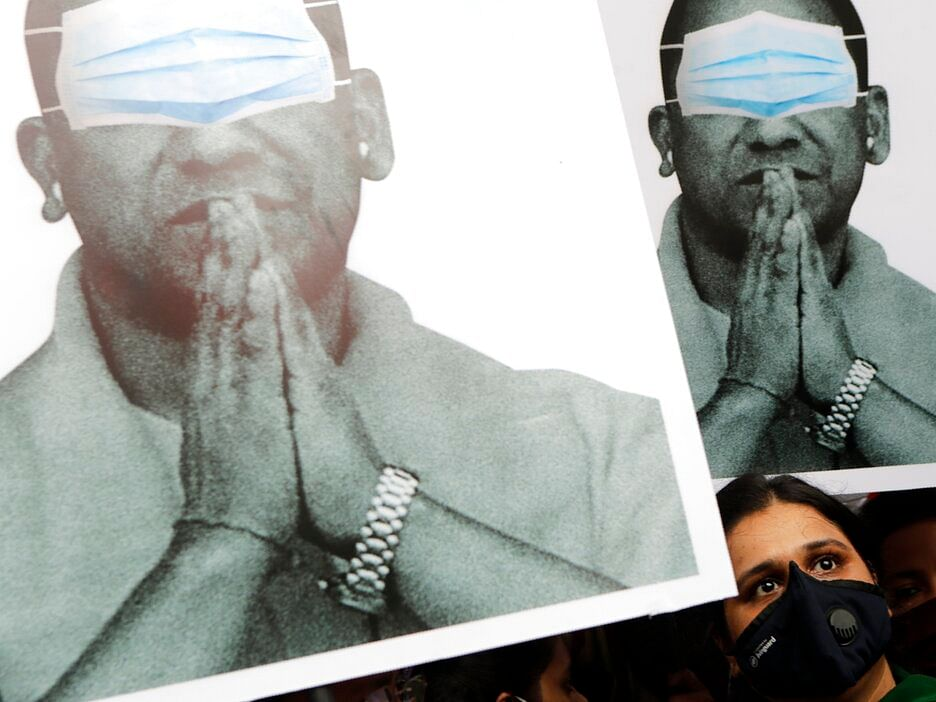 Protest against Hathras gang rape