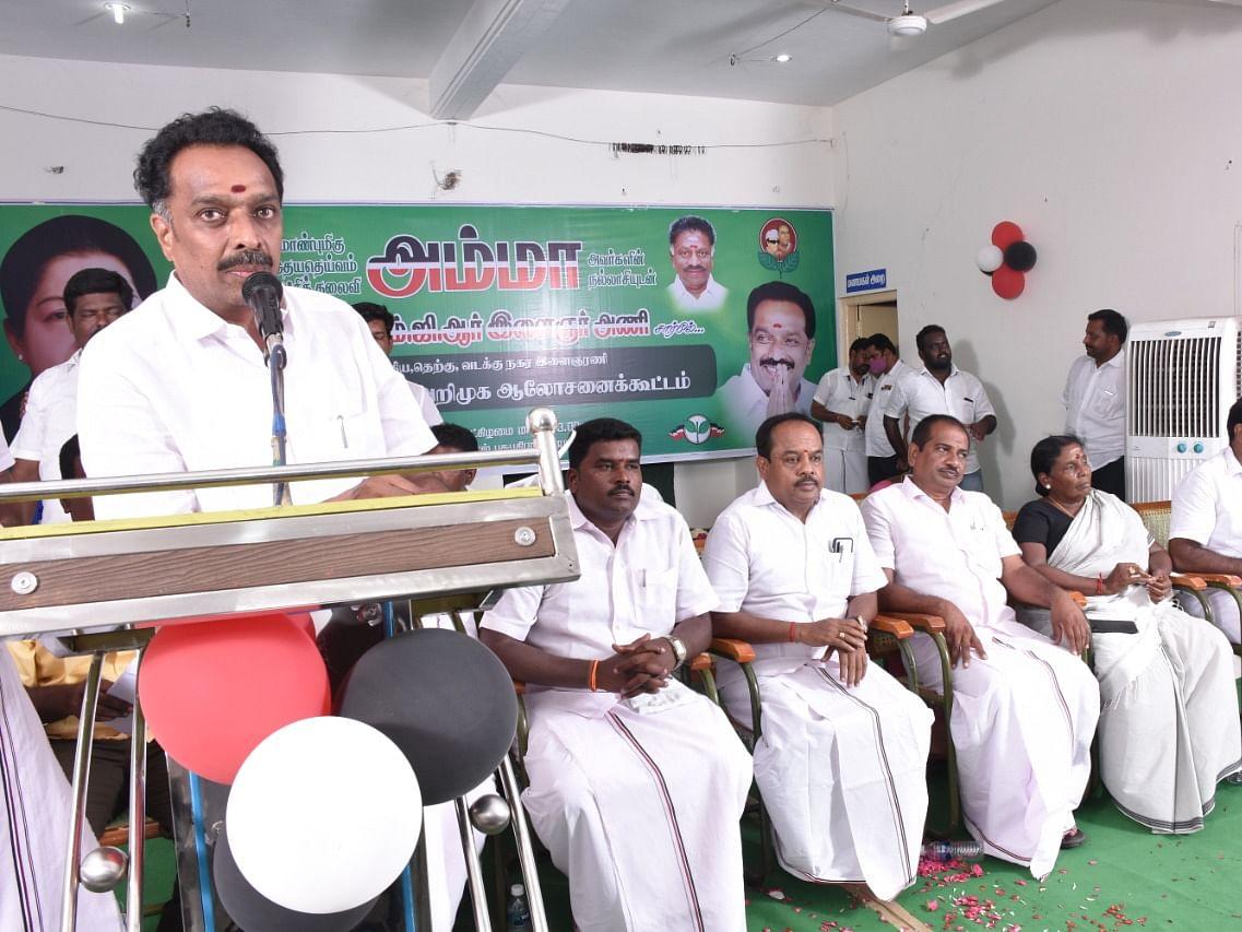 கரூர்: `செந்தில் பாலாஜிக்கு தேர்தல் பயம்!' - கொந்தளித்த எம்.ஆர்.விஜயபாஸ்கர்