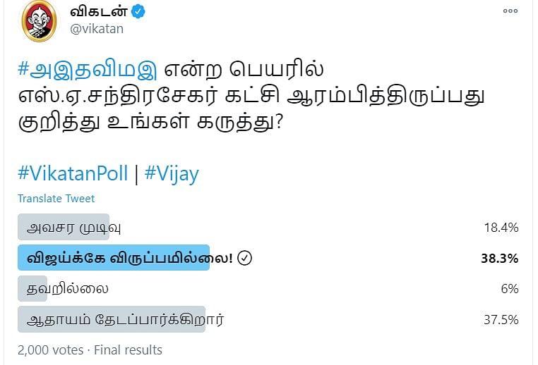 Vijay Party | Vikatan Poll