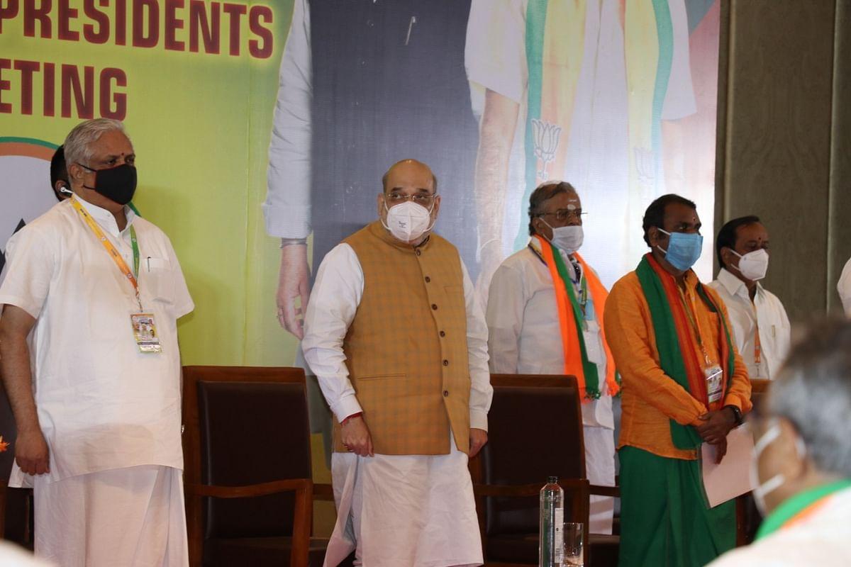 பா.ஜ.க ஆலோசனைக் கூட்டத்தில் அமித் ஷா