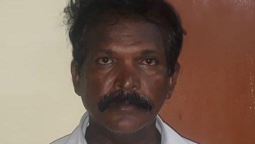 கைதுசெய்யப்பட்ட அருளானந்தசுவாமி.