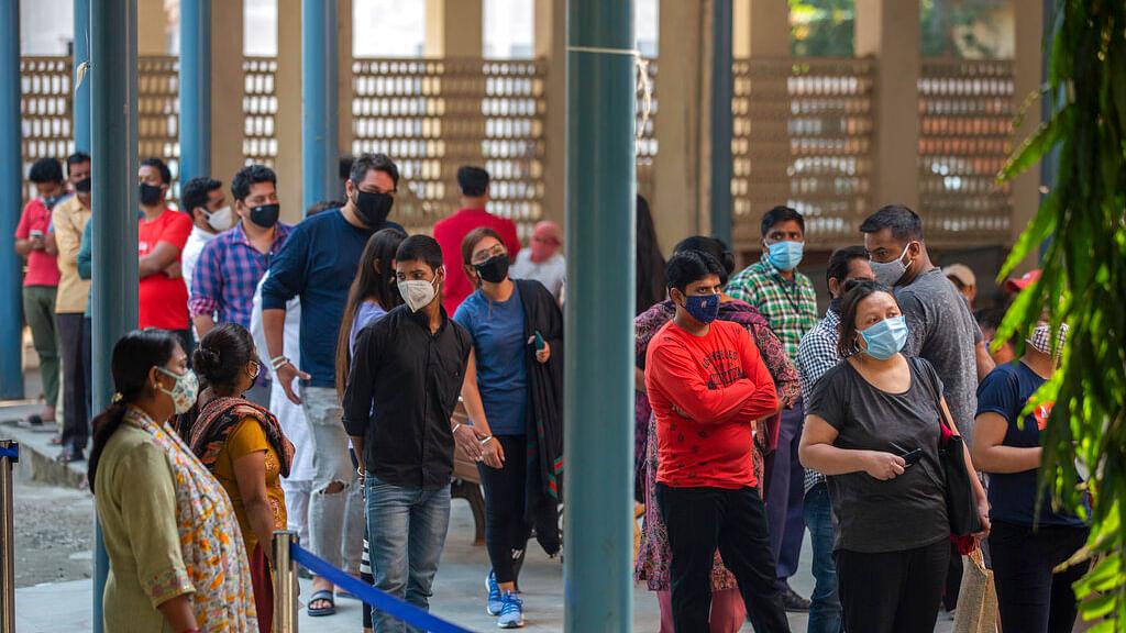 COVID-19 testing center in New Delhi, India