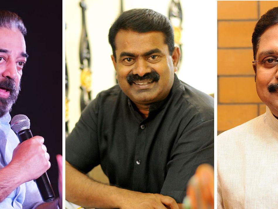 `கழகங்களை பஞ்சராக்கும் தினகரன், சீமான், கமல் கட்சிகள்!' - தேர்தல் நம்பர் கேம் #TNElection2021