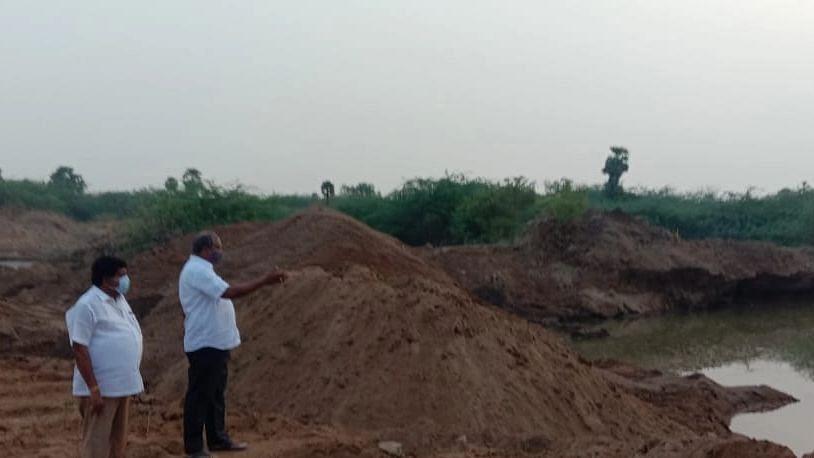 மணல் கொள்ளை - எம்.பி சின்ராஜ் ஆய்வு