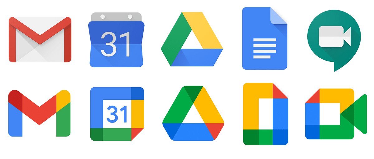 Google Apps new logos